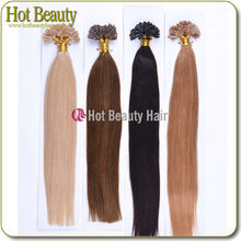 Silky Straight Various Colors remy nail brazilian fusion hair extension