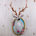 Artificial wall mounted resin animal Sika deer head wall mount for home decor