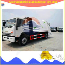 China garbage truck manufacture direct sale for JAC HFC1070P73K2C3Z compactor garbage vehicle 4*2 6 cbm sale in vietnam