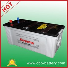 24V big size dry charged truck batteries auto battery 180ah 12V