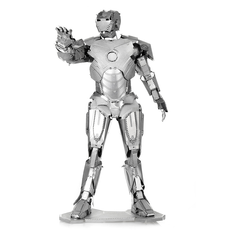 Educational Toys IRON MAN Metal Works Diy 3D Laser Cut Models Puzzle Magnetic 3d Jigsaw Puzzles