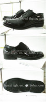 2015 hot selling double joint fashion style black men leather dress shoes for restaurant service industry