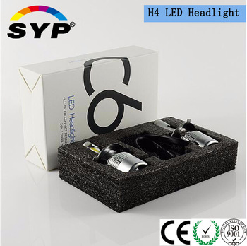 Wholesale H4 H7 9005 9006 H1 led projector headlight with led Fanless Headlight car accessories kits for used cars