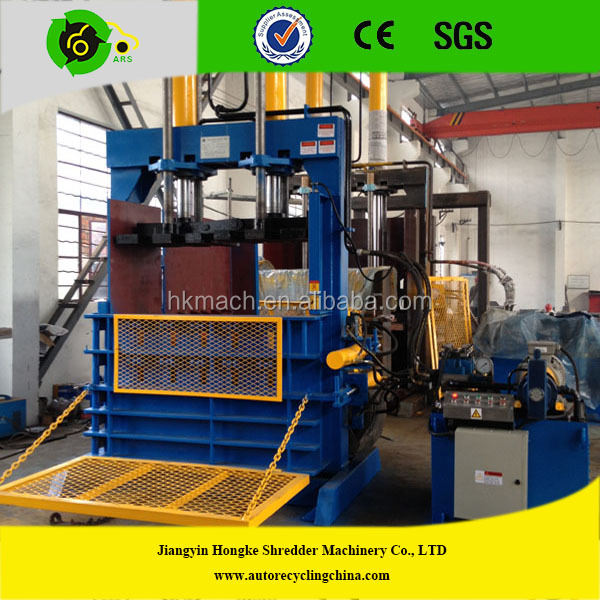 High quality CE certification Automatic hydraulic waste tire baler machine