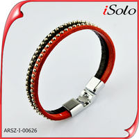 Guangzhou ISOLO jewelry make rubber band bracelet with duck and red