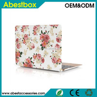 "For Macbook 12"" Hard Cover Case, 2015 Released Flower Design PC Hard Cover Shell for Macbook 12"" inch with Retina Display Laptop"