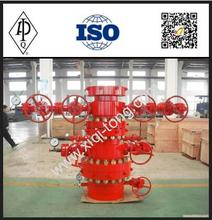 wellhead X-christmas tree with tubing head and adapter flange for oilfield equipment