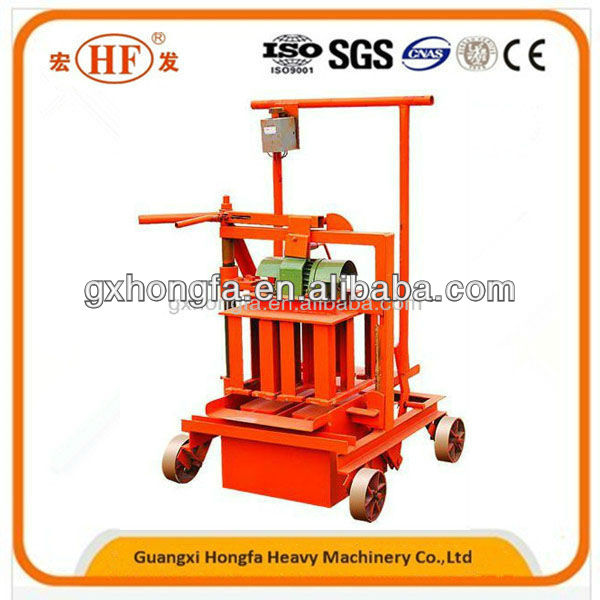Moving Egg Laying Interlocking Paver Brick Grassed Block Making Machine