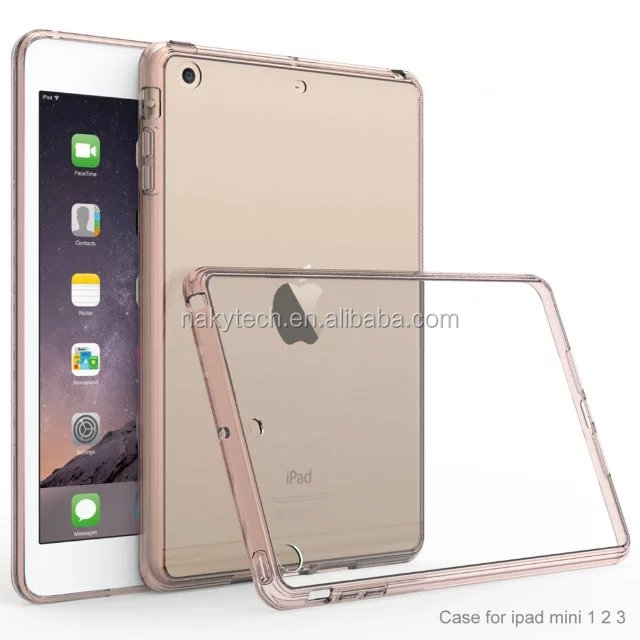 For Ipad mini4 Phone Case Transparent pc Clear Back Cover For iphone X case