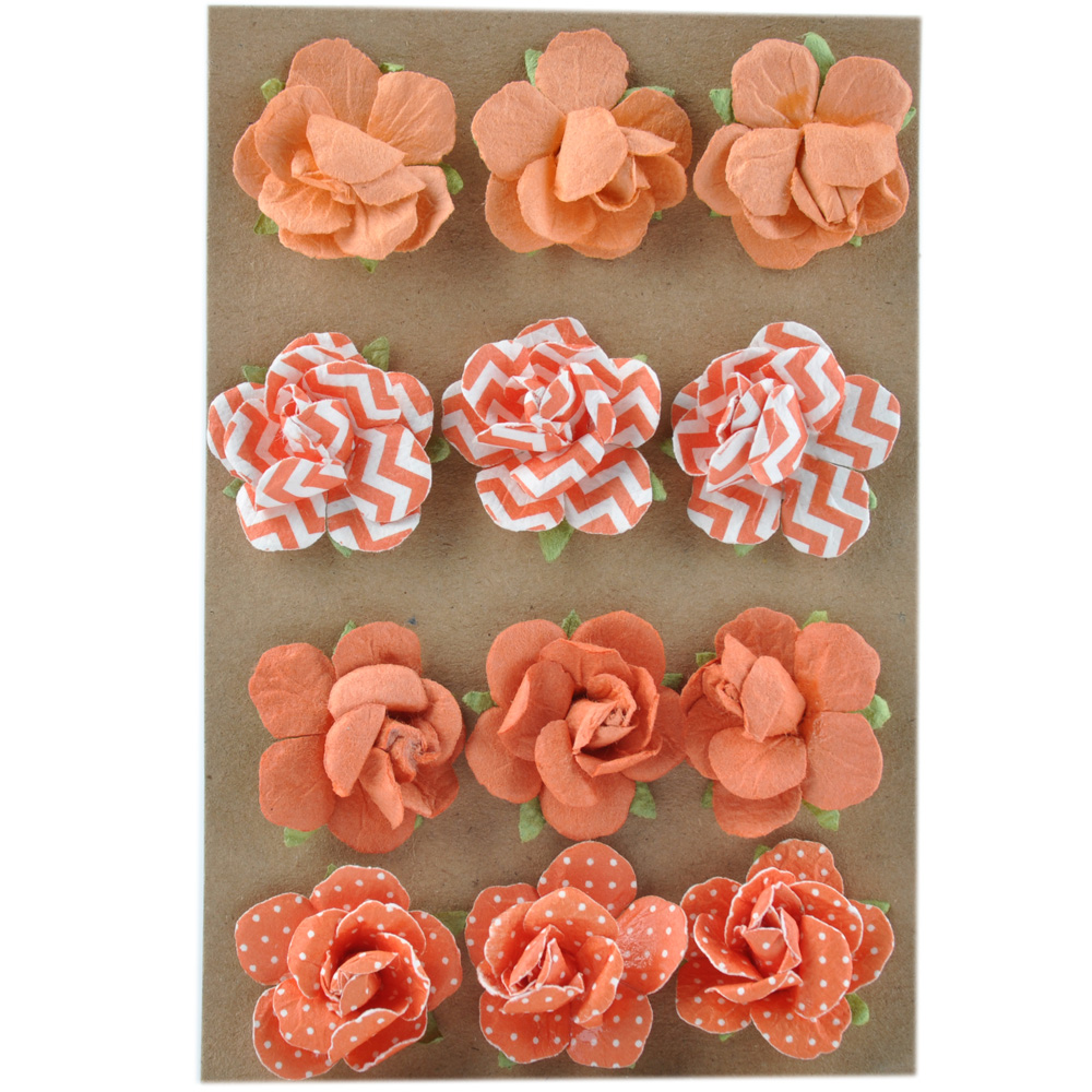 Handmade 2-3cm wedding decor scrapbooking mini paper flowers