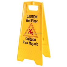OFC Caution Wet Floor Platic Warning Sign in Hotels Bulletin Board