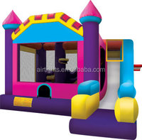 0.55mm PVC vinyl inflatable combo, inflatable structures, colorful inflatable house with slide