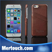 High quality Genuine leather back cover For iPhone 6 case, for iphone 6 credit card case