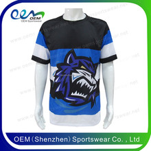 FREE SAMPLE sublimation dye t shirt design sports t-shirts