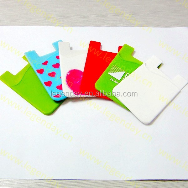 Custom Silicone Smart Phone Wallet/Phone Pouch/ ID credit business Card Holder
