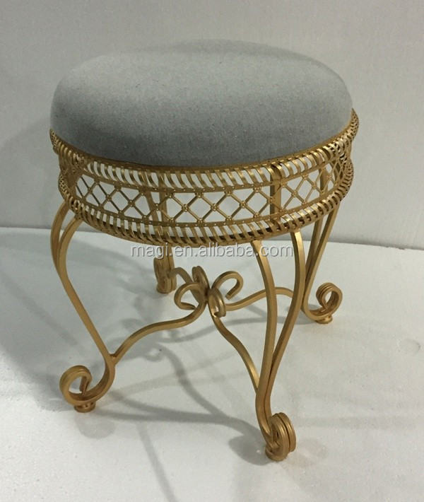Decoration Chair Steel Frame Foot Rest Stool