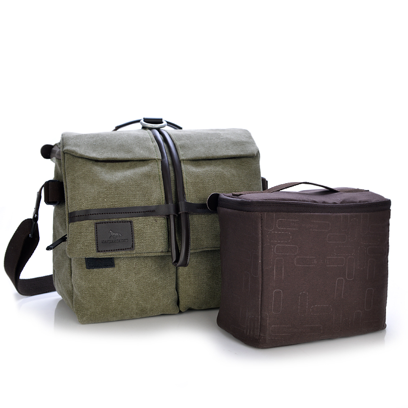 Brand new men's canvas camera bags with reasonable price personalized photo bag