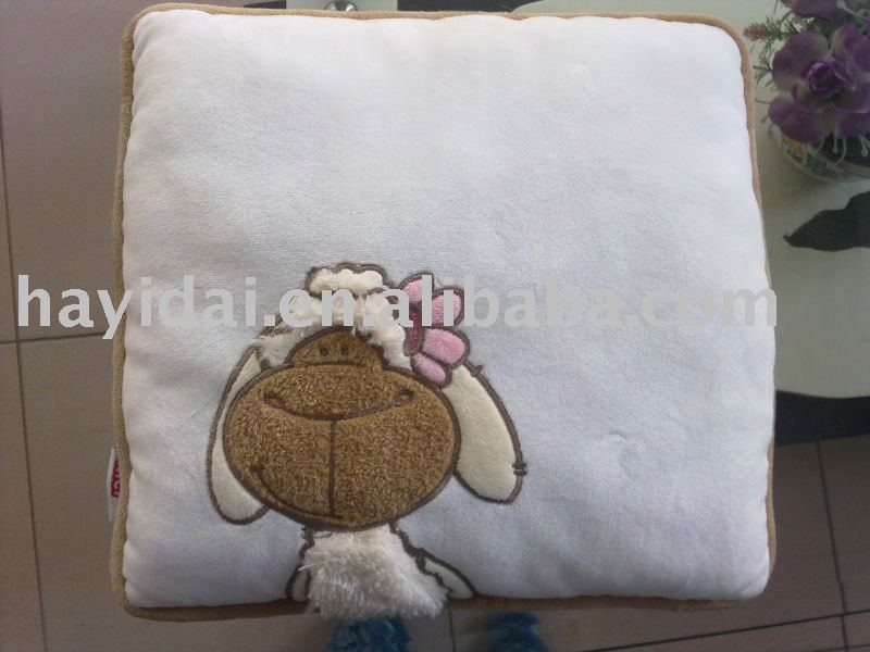 plush sheep cushion woven cushion/pillow