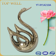 new products 2016 gold color ceramic swan for home decoration