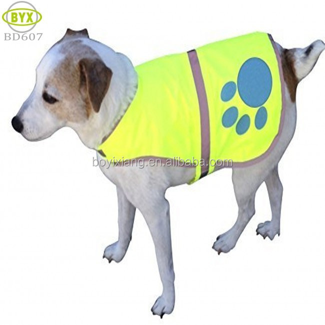 Waterproof Florescent Reflective Dog Safety Vest with Adjustable Strap, Small