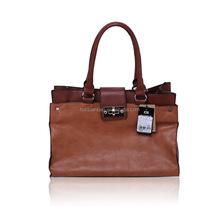 GCQ009 wholes Simple brown PU Leather handbag women / large capacity high quality ladies bag / manufacturer bags for women