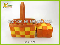 Rectangle harvest basket with fixed handle