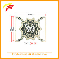 fashion spider and net shaped zinc alloy joint buckle for elastic belt