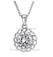 2016 wholesale Flowers diamond necklace short paragraph