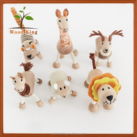 Animal Modelling Home Lion Antelope Cartoon Zoo Small Farm Animal Toys Wooden Animal Toy