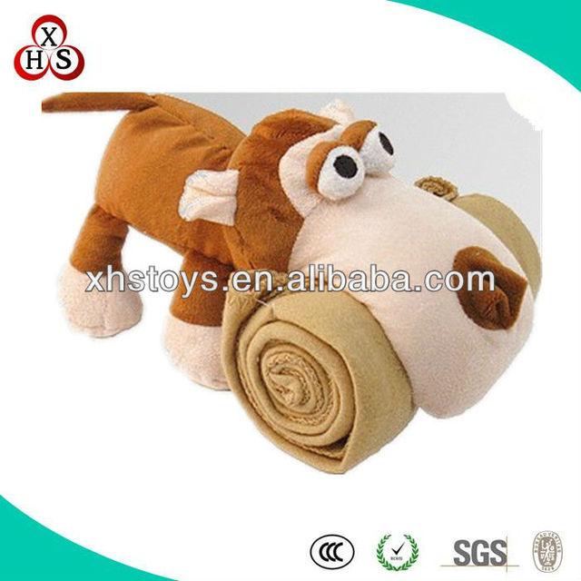 Big mouth Kids plush animal pillow with blanket