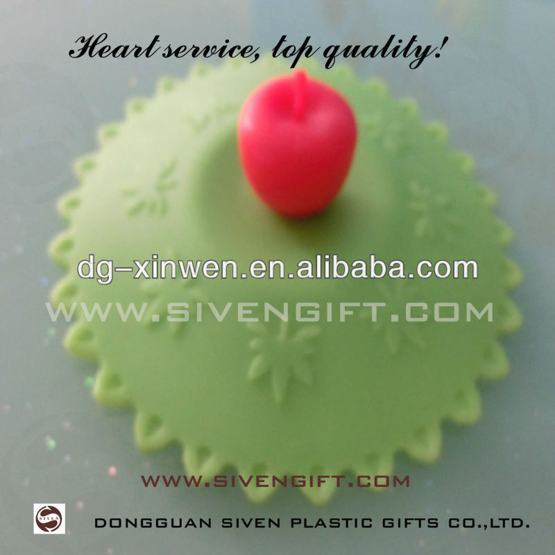 Cute design silicone cup cover beautiful silicon 3d cup lids