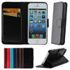 For Apple iPhone 5 5S Wholesales Magnetic Flip Crazy Horse PU Leather Stand Case