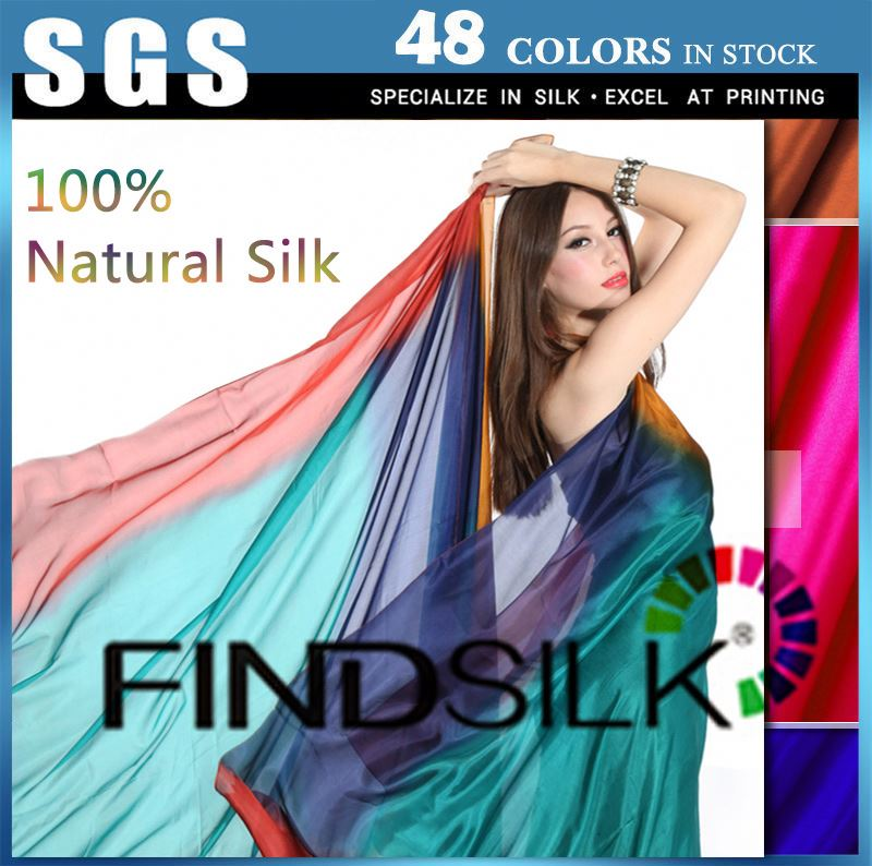 Wrinkle-free gradient color chiffon fabric