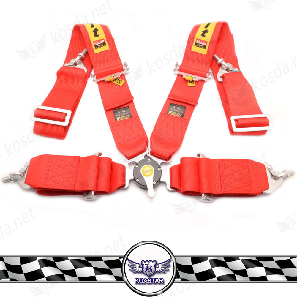 Car Interior Accessories 3'' 4 Point/5 Point/6 Point Red Quick Release Seat Belt