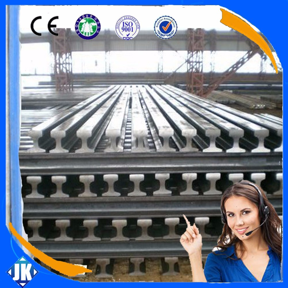 Tangshan China GB light rail 22kg/m steel rail used for sale