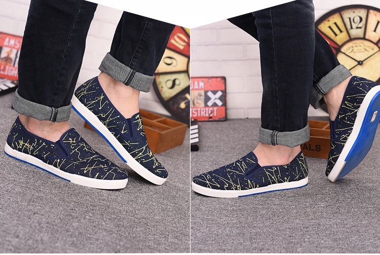 2017camouflage slip on canvas casual shoes men made in China