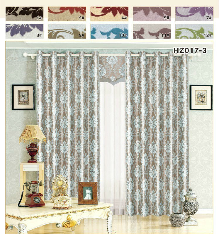 floral pattern blackout curtain for home
