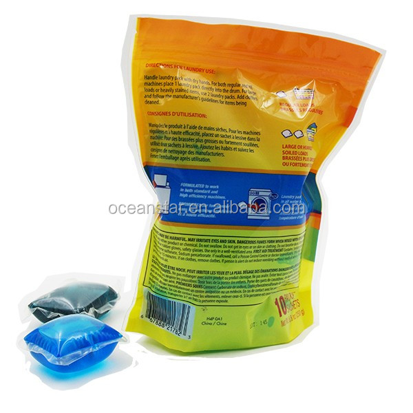 15g individual liquid washing capsules for laundry with water soluble film