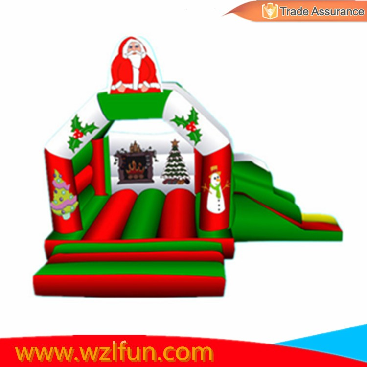 wzlfun High Quality PVC Material Christmas Inflatable Baby Bouncer