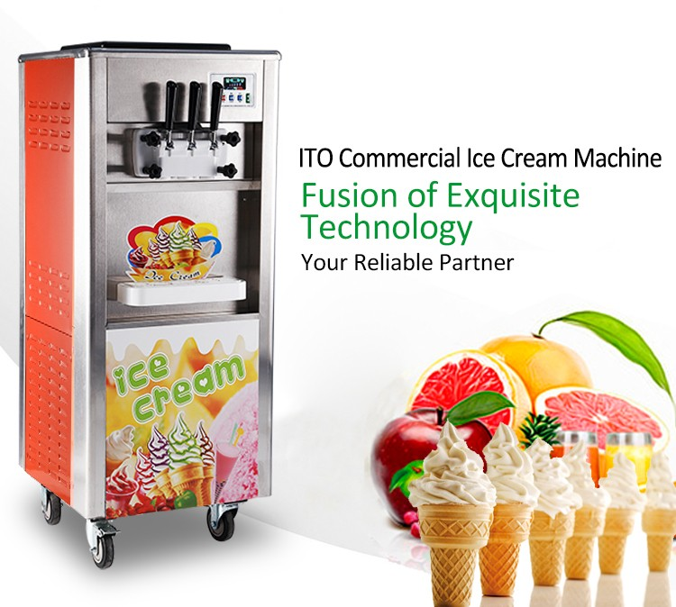 RB-818 Commerciële Fruit Soft Ijsmachine