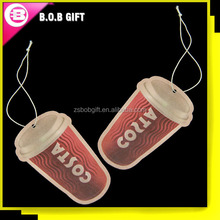 Automatic dispenser paper custom car air freshener