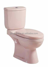 light pink colorful ceramic washdown two-piece toilet
