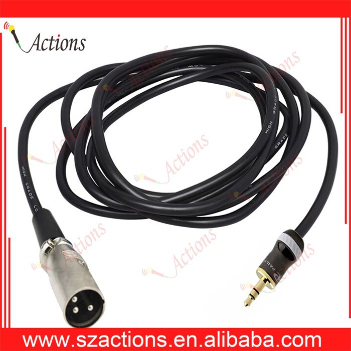 High Quality XLR Cable 3.5mm Jack to 3Pin Male Xlr Microphone Audio Extension Wire