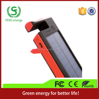 Cheap portable 12000mAh solar power bank charger, solar panel for mobile devices