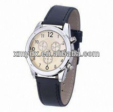 Fashionable Watch, Custom Dial, Made of Leather Strap Material