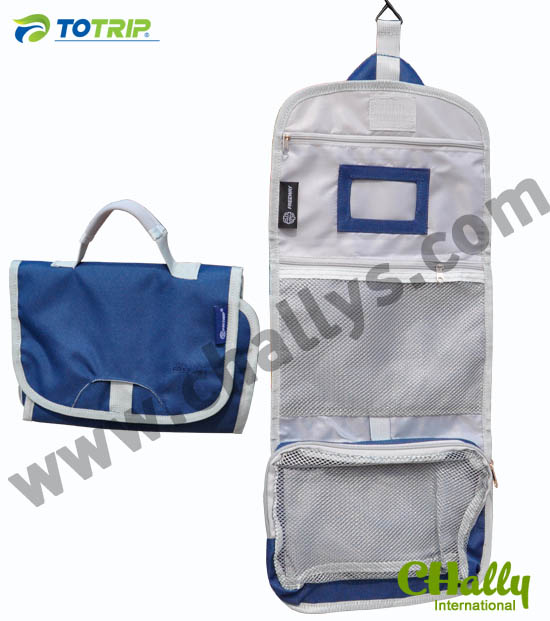 Men Air travel toiletry bags with mirror