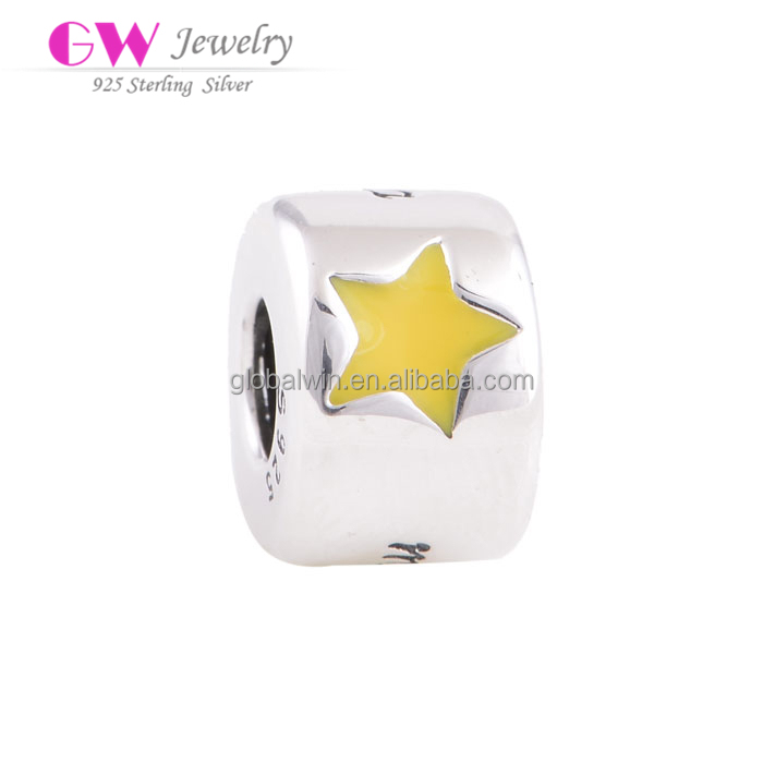Cheerleading charms wholesale charms yellow star slide charms and beads