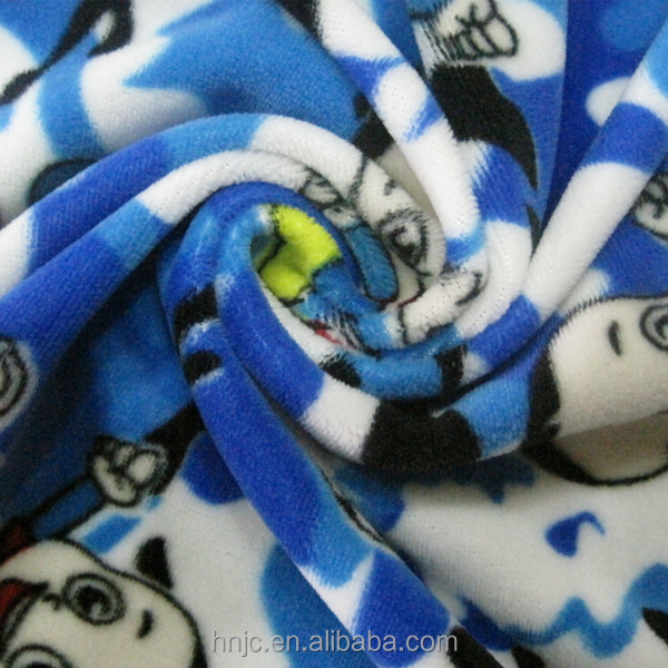 Super soft printed polyester stretch fabric for baby