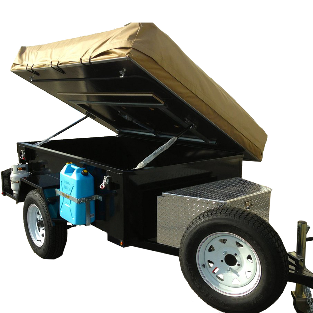 Small Lightweight Travel Camper Box Trailer for Sale