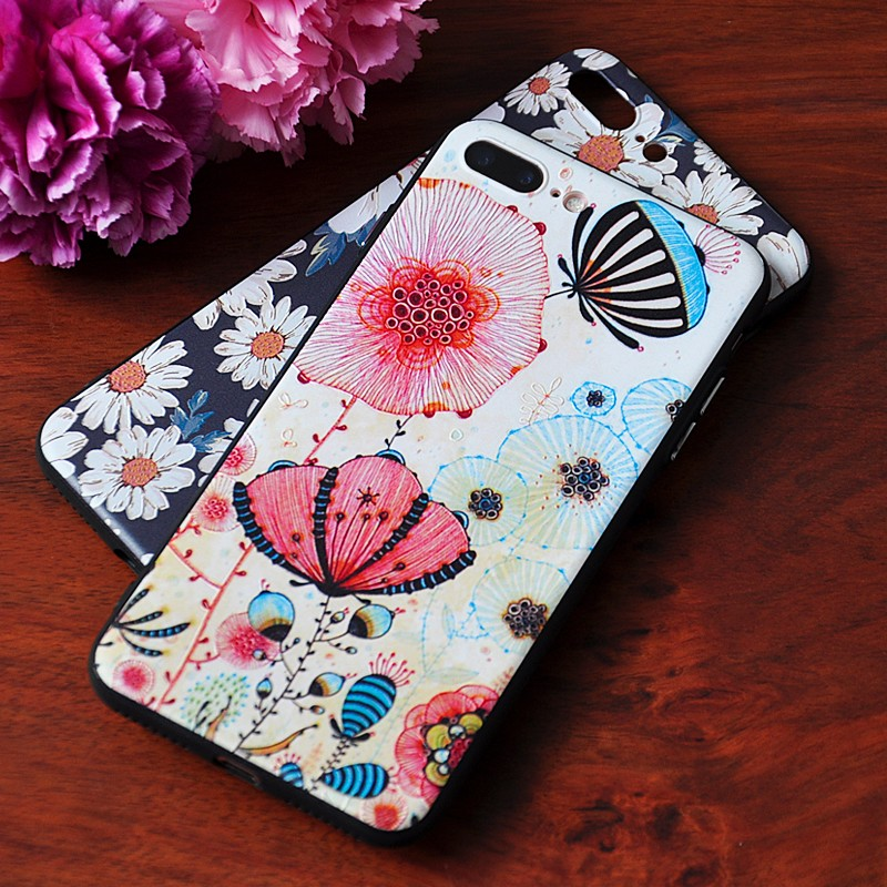 DFIFAN Plastic tpu pc Series for Apple Iphones 7 7plus personalized Printing Lotus landscape Cells Phone Cases for iphone 7